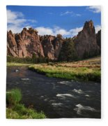 Smith Rock State Park - Oregon Fleece Blanket