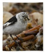 Snow Bunting Fleece Blanket