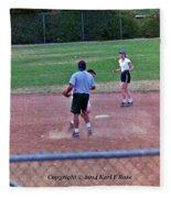Softball Game Fleece Blanket