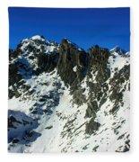 Southern Alps New Zealand Fleece Blanket