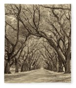 Southern Journey Sepia Fleece Blanket