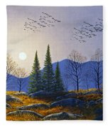 Southern Migration By Moonlight Fleece Blanket