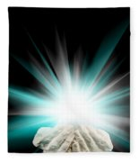 Spiritual Light In Cupped Hands On A Black Background Fleece Blanket