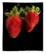 Splash Strawberry Fleece Blanket