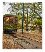St. Charles Streetcar Fleece Blanket
