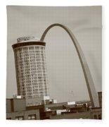 St. Louis - Gateway Arch Fleece Blanket