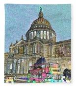 St Paul's Cathedral London Art Fleece Blanket