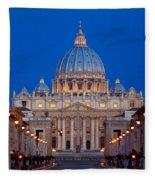St Peter's Basilica Fleece Blanket