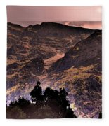 Starry Night Landscape Fleece Blanket