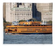 Staten Island Ferry Fleece Blanket