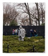 Statues Of Soldiers At A War Memorial Fleece Blanket