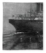 Steamship Accident, 1914 Fleece Blanket