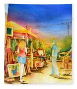 Street Art Fair Fleece Blanket