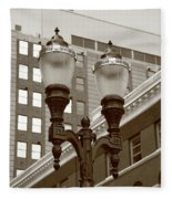 Streetlights - Lansing Michigan Fleece Blanket