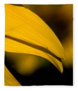 Sunflower Petals Fleece Blanket