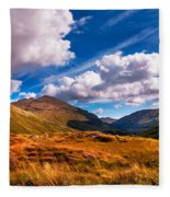 Sunny Day At Rest And Be Thankful. Scotland Fleece Blanket