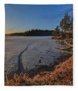 Sunrise On Millsite Lake Fleece Blanket