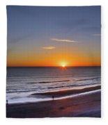 Sunrise Over Atlantic Ocean, Florida Fleece Blanket