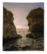 Sunset At Pismo Beach Fleece Blanket