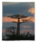 sunset in Madagascar Fleece Blanket