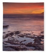 Sunset In Marbella Fleece Blanket