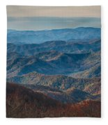 Sunset View Over Blue Ridge Mountains Fleece Blanket