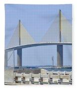 Sunshine Skyway Bridge I Tampa Bay Florida Usa Fleece Blanket