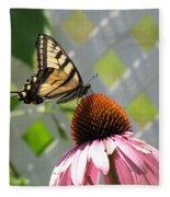 Tiger Swallowtail On Coneflower Fleece Blanket