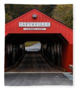 Taftsville Covered Bridge Vermont Fleece Blanket