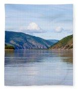 Taiga Hills At Yukon River Near Dawson City Fleece Blanket