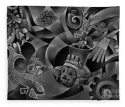 Tapestry Of Gods - Tlaloc Fleece Blanket