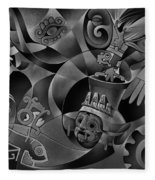 Tapestry Of Gods - Tlaloc Fleece Blanket
