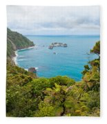 Tasman Sea At West Coast Of South Island Of New Zealand Fleece Blanket