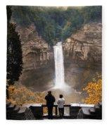 Taughannock Falls Fleece Blanket