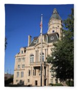 Terre Haute Indiana - Courthouse Fleece Blanket