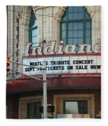 Terre Haute - Indiana Theater Fleece Blanket