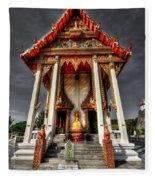 Thai Temple Fleece Blanket