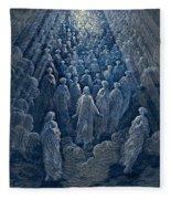 The Angels In The Planet Mercury Fleece Blanket