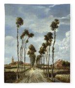 The Avenue At Middelharnis Fleece Blanket