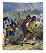 The Battle Of Concord, 1775 Fleece Blanket