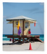 The Beach In Hollywood Florida Fleece Blanket