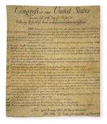 The Bill Of Rights, 1789 Fleece Blanket