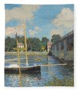 The Bridge At Argenteuil Fleece Blanket