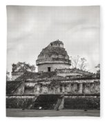 The Castillo In Chichen Itza Fleece Blanket