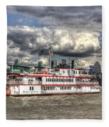 The Dixie Queen Paddle Steamer Fleece Blanket