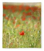 The First Poppy Of The Field Fleece Blanket