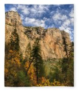 The Hills Of Sedona  Fleece Blanket