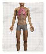 The Lungs Within The Body Pre-adolescent Fleece Blanket