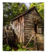 The Mill At Cades Cove Fleece Blanket