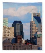 The Nashville Skyline As Viewed Fleece Blanket